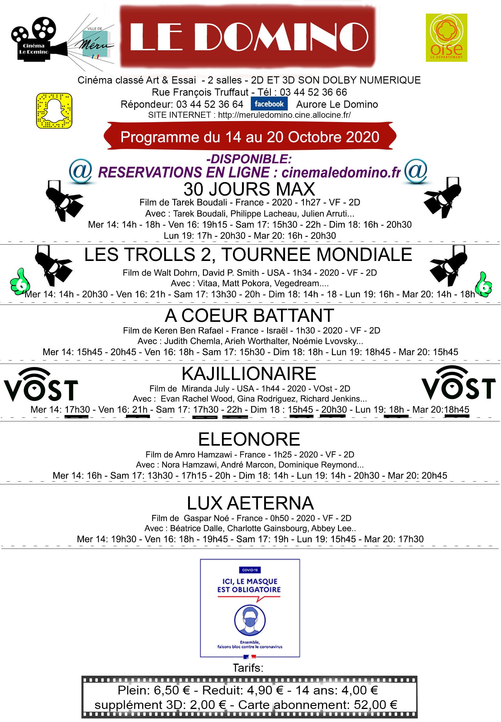 Programme cinéma Le Domino, crédit photo : Cinéma Le Domino