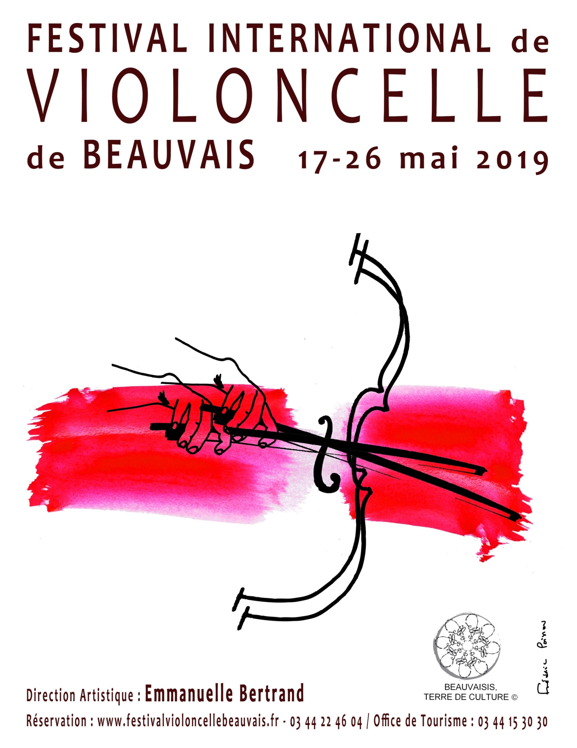 Affiche Festival, crédit photo : Festival International de Violoncelle de Beauvais